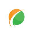 abstract circle arrow logo image vector image vector image