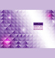 abstract purple geometric triangle background vector image