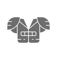american football chest protection grey vector image vector image