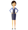angry unhappy business woman lady thumbs down vector image vector image