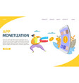 app monetization website landing page vector image vector image