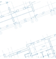 Architecture blueprint background vector image vector image