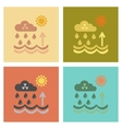 assembly flat icons nature Radioactive cloud and vector image vector image