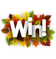 autumn win background with leaves vector image vector image