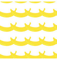 banana border seamless pattern retro style white vector image vector image