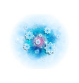 blue shiny sparkling christmas winter background vector image