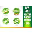 Bpa free Badge Logo vector image vector image