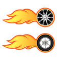 car and motorcycle wheel vector image vector image