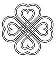 celtic heart knot in shape a clover leaf vector image vector image
