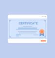 certificate template academic diploma degree vector image
