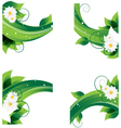 chamomiles and dense foliage vector image vector image