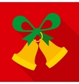 Christmas Bells with Green Bow vector image vector image