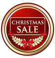 Christmas Sale Gold Label vector image vector image
