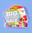 christmas sale sticker santa claus mega vector image vector image
