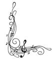 Clef music sheet vector image vector image