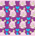 cute hamsters background vector image vector image