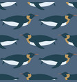 cute imperial penguin seamless pattern vector image vector image