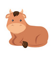 cute ox character icon vector image vector image