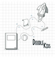 doodle kids cartoons vector image