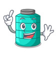finger cartoon water tank for in agriculture vector image