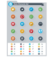 Flat statistic elements icon set vector image vector image