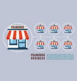 franchise business in flat style infographic vector image vector image