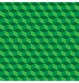 Green geometric seamless cubes pattern background vector image vector image