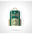 Green knapsack flat color design icon vector image vector image