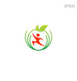 halthcare fitness logo icon or symbol isolated vector image vector image