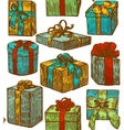 hand drawn gift background vector image vector image