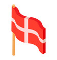 holland flag icon isometric style vector image vector image
