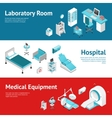 Hospital Medical Equipment Flat Banners Set vector image vector image