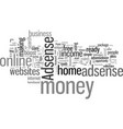 how to make money at home home based business at vector image vector image