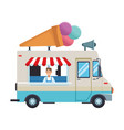 ice cream truck cartoon vector image