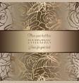 intricate baroque luxury wedding invitation card vector image