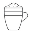 latte thin line icon coffee and cafe coffee mug vector image