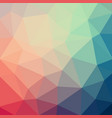 light blue red low poly crystal background vector image vector image