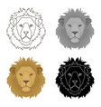 lion icon in cartoon style isolated on white vector image vector image
