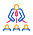 man leadership icon outline vector image vector image