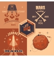 Mars colonization program flat design labels vector image vector image