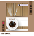 Modern Coffee-Card Set vector image vector image