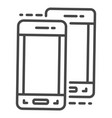modern smartphone icon outline style vector image
