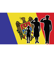 Moldova soldier family salute vector image vector image
