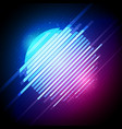 retro 1980s glowing neon sun glitch distortion vector image