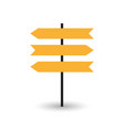 road sign icon pointer vector image vector image