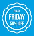 sale sticker 50 percent off icon white vector image