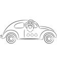 Santa Claus in Car vector image vector image