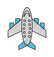 scribble airplane cartoon vector image vector image