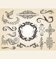 set calligraphic design elements page vector image vector image