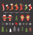 Set christmas design elements